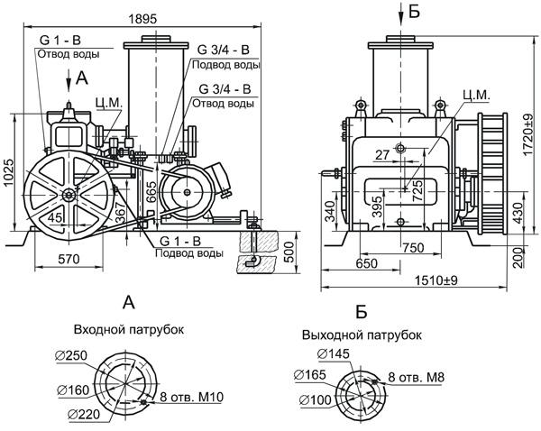 Технические характеристики насоса НВЗ-300